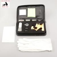 10pcs GIA loupe magnifier diamond gemstones testing tool bag jewelry selector tweezer gold silver polishing cloth goldsmith tool