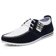 Nueva Niza Primavera Otoño Hombres Zapatos Casuales Masculinos Calzado Para Hombres Zapatos Planos de Cuero de Moda de Los Hombres de Moda Hombre P58