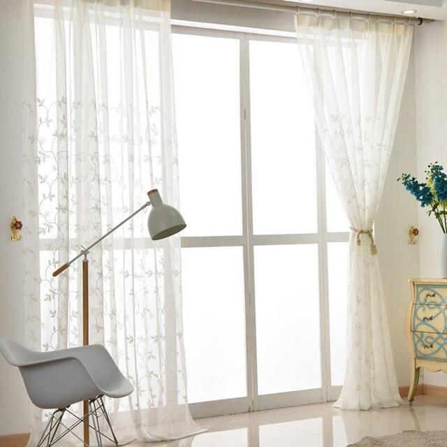 Korean Style Green Fresh Fabric Bedroom Living Room Curtains Bay