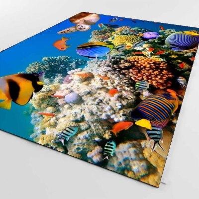 Else Tropical Blue Under Sea Aquarium Fishes 3d Print Non Slip Microfiber Living Room Decorative Modern Washable Area Rug Mat