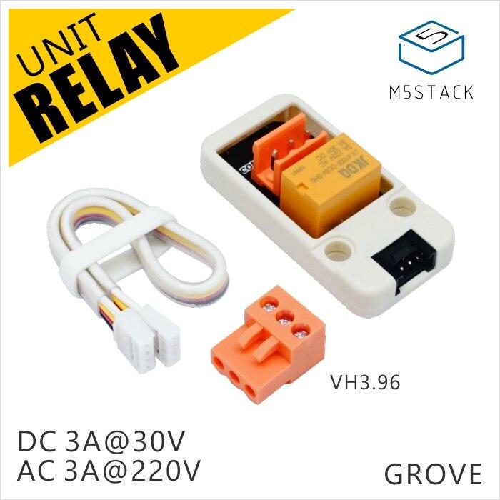 M5Stack Official Mini Relay Unit DC 3A@30V & AC 3A@220V With Triode Driven GROVE Port For ESP32 Arduino Micropython Kit