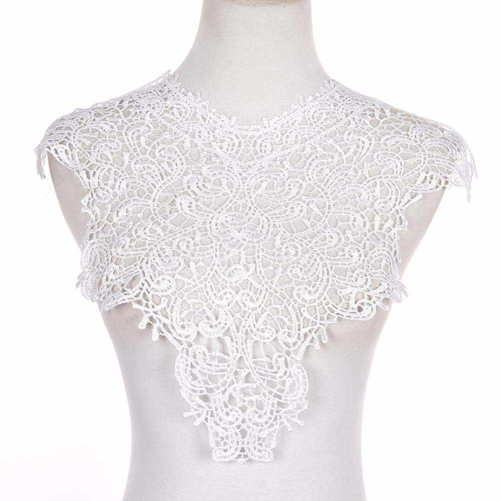 ホット 2 色ポリエステル Diy 手作りジュエリーレトロビンテージレースネックチョーカーネックレスレースの襟ネックレスの女性のアクセサリー
