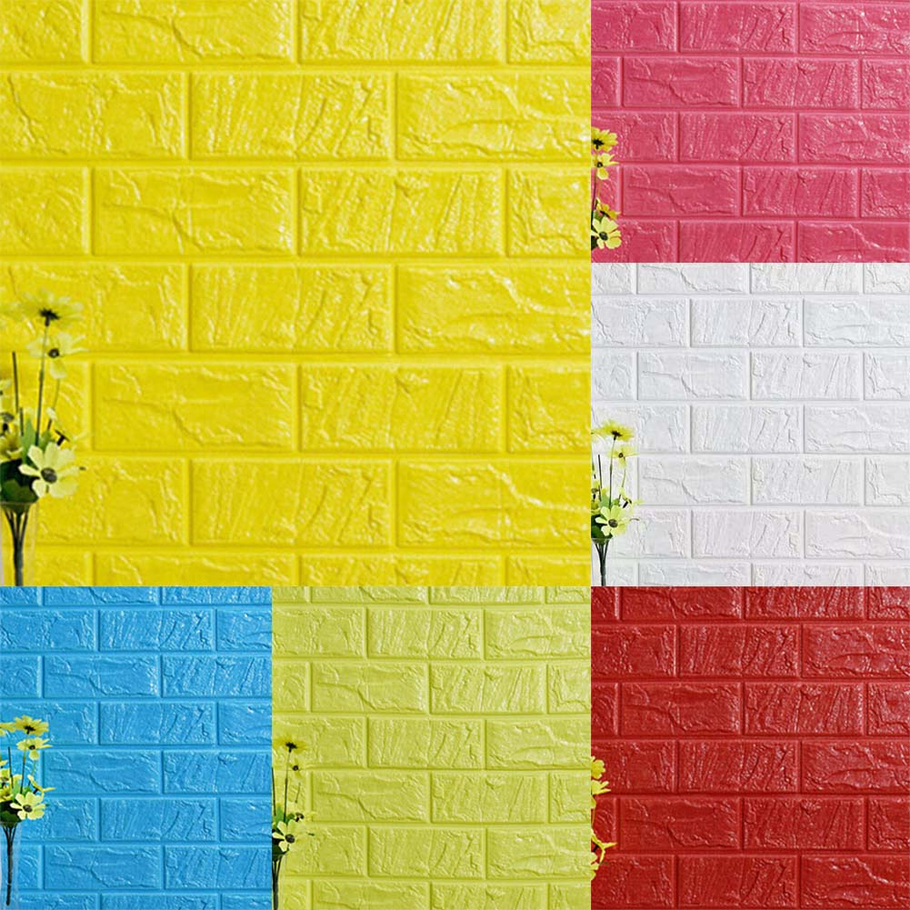 Colorful 3d Bricks Decorative Wall Panels Crest - All About Wallart ...