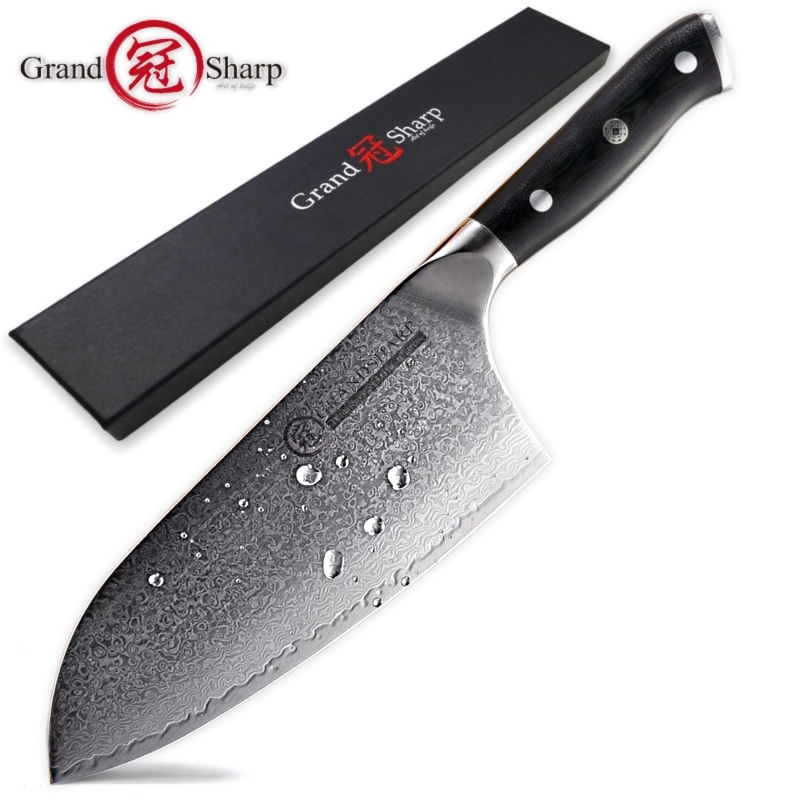 Damascus Cleaver Knife 7 2 Inch VG10 Japanese Damascus Steel Professional Butcher Tools 67 Layers Chef