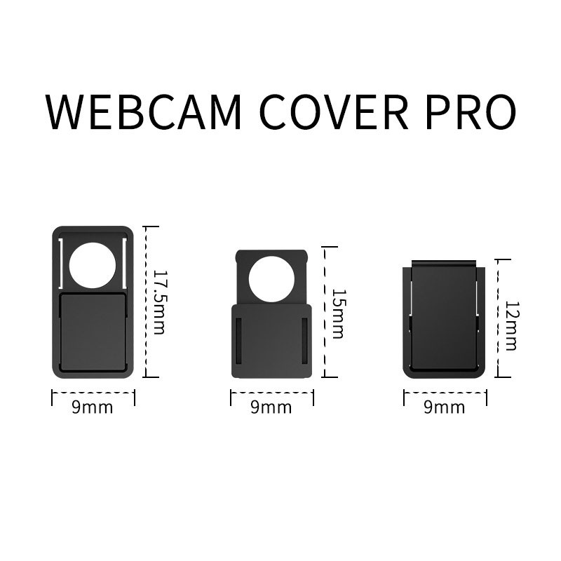 3 in 1 WebCam Cover Shutter Magnet Slider Plastic Camera Cover Case For iPhone iPad PC Lap