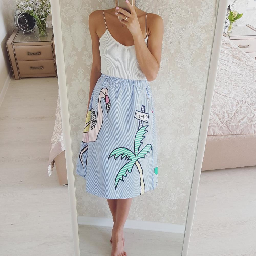 Оригинальная летняя юбка с принтом с Алиэкспресс