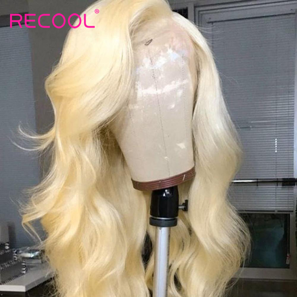 Recool 613 Blonde Lace Front Wig 13x6 Lace Front Human Hair Wigs Brazilian Body Wave HD Transparent Lace Frontal Wig Pre Plucked-in Human Hair Lace Wigs from Hair Extensions & Wigs    2