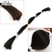 Zebra 1 Bundle 80-85cm/31.4''-33.4'' Violin Bow Hair Natural Black Horse Tail Hair For Violin Viola Cello Bow Replaced