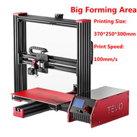 2017 Newest Tevo Black Widow 3D Printer Kit Impresora 3D Large Printing Size 370 250 300mm