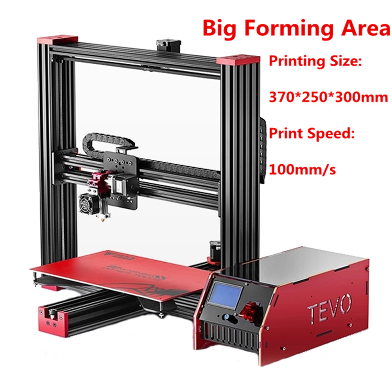 2017 Newest Tevo Black Widow 3D Printer Kit Impresora 3D Large Printing Size 370*250*300mm Aluminium Extrusion-GIFT 2017 classic tevo tarantula i3 aluminium extrusion 3d printer kit 3d printing 2 roll filament sd card titan extruder as gift