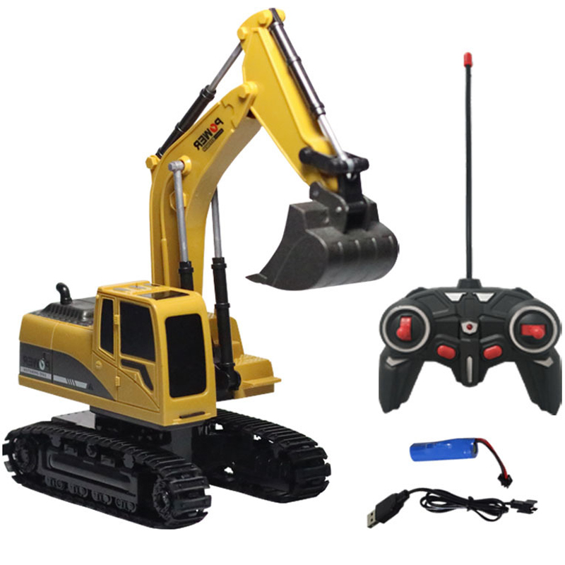 YETAA Electronic Heavy Machinery Excavator Toys Remote Control Engineering Dump Digger Trucks Model Vehicles Toys For Children