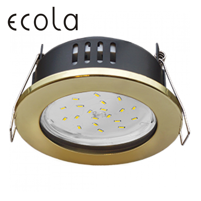 Ecola GX53 H9 Recessed Ceiling Downlight IP65 Round Spotlight Hole Spot Lamp GX53 Sockets Without Reflector 98х55