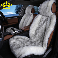 2pc hot sale color black white long faux fur car seat cover universal size for all car for car tiguan 2017 for car opel zafira