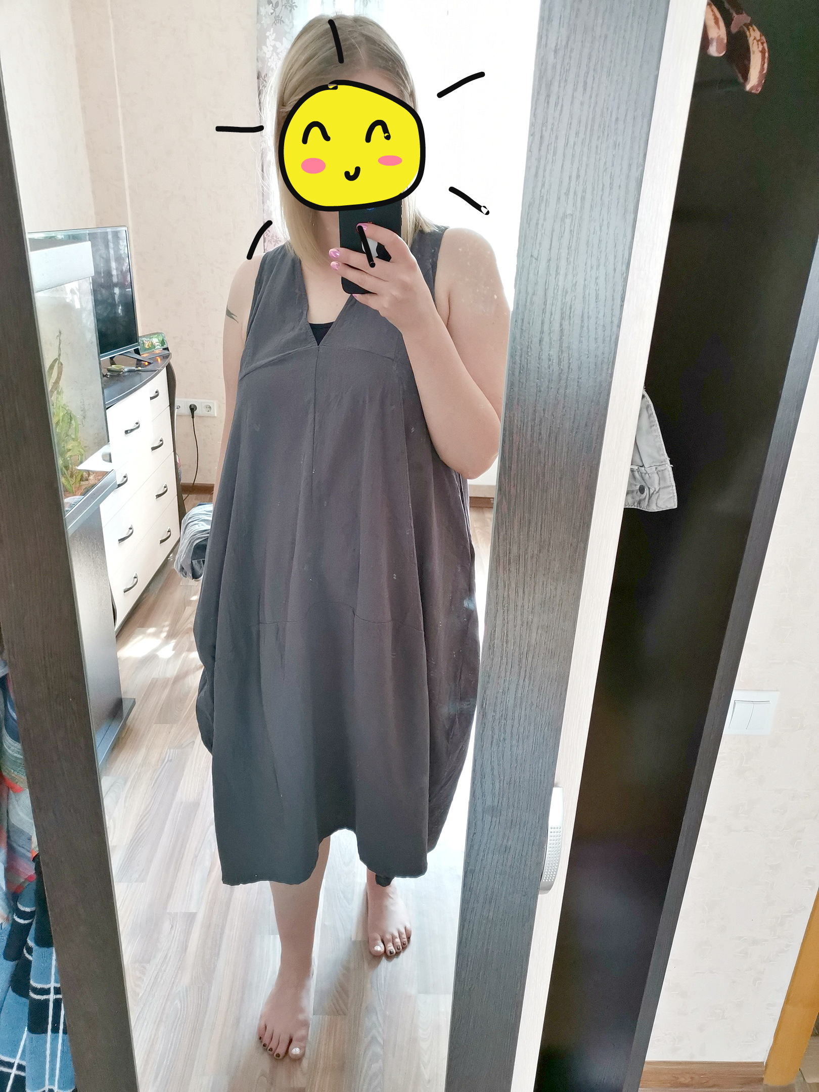 Summer Elegant Women V Neck Sleeveless Cotton Linen Long Dress Solid Baggy Casual Lace Up Backless Vestido Plus Size photo review