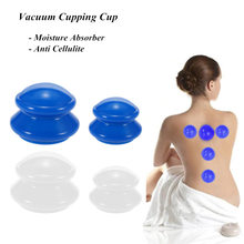 4Pcs Vacuum Cupping Cup Moisture Absorber Anti Cellulite  Silicone Family Facial Body Massage Therapy Cupping Cup Set 4 Size недорого