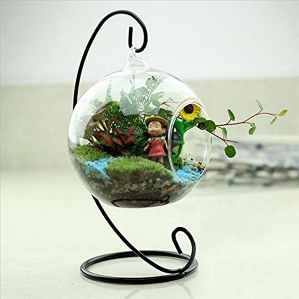 Цветочное растение стеклянная ваза висячая дизайнерская подставка круглая с 1 отверстием гидропонный контейнер с держателем для гостиной домашний Декор подарок