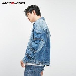 Image 3 - جاكيت دنيم ضيق مناسب للخريف للرجال من JackJones معطف أنيق ملابس خارجية للرجال 219157511