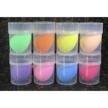 Electrool Dropship 1 Pza esponja de gota de agua suave gran maquillaje base esponja en polvo maquillaje Puff belleza Puff con soporte caja