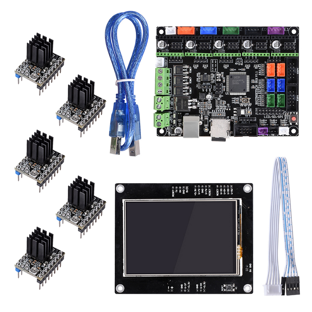 BIQU BIGTREETECH SKR V1 1 Motherboard 32-Bit Smoothieboard and TFT3 5 Touch  Screen+TMC2208 TMC2130 DRV8825 Driver for 3D Printer