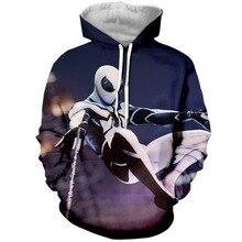 цена на YX Girl 7XL Mens 3d Print Super hero Spider man Hoodie Men Women  Hooded Sweatshirt Autumn Thin Pullover Outwear