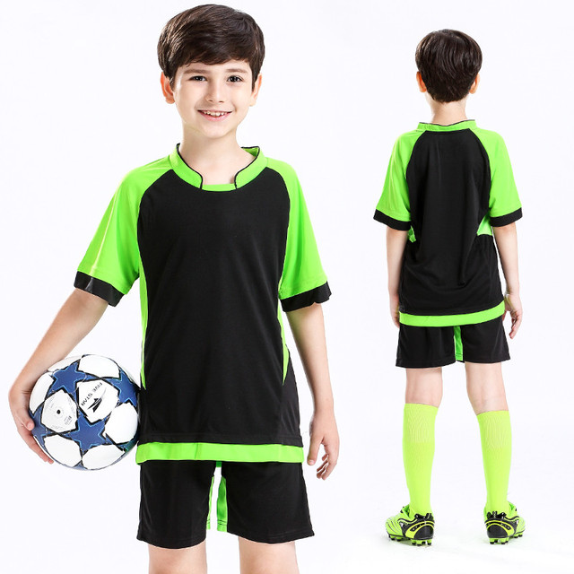 sneakers for cheap b3e5a 28792 US $12.03 35% OFF|Youth Kids Soccer Jerseys Sets Football Volleyball  Jerseys Sport Kit Traning Suit Child Team Uniforms Custom Print Name Number  -in ...