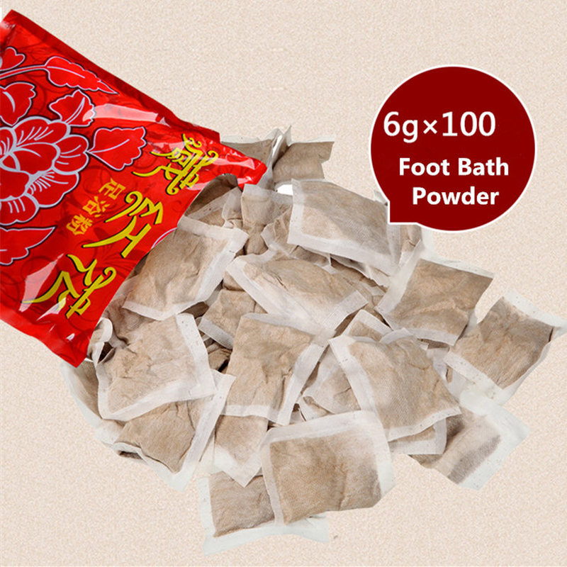 100pcs/set Natural Herb Foot Bath Pack Chinese Medicine Foot SPA Bubble Powder Body Skin Care Detox Massage Skin Treatment ...