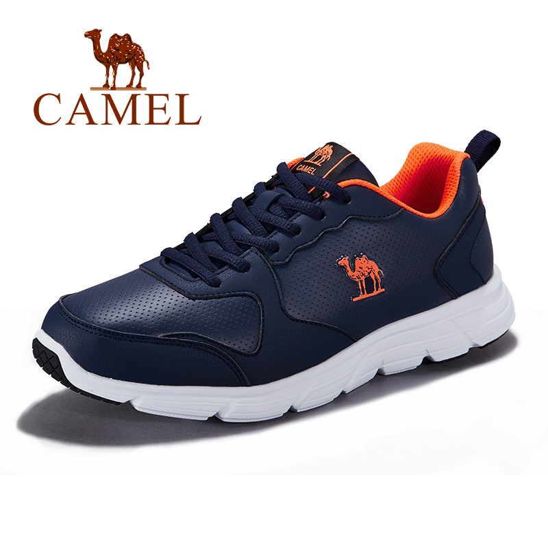 CAMEL Men's Running Shoes Mesh leahter Sneakers Comfortable Breathable Sports Shoes Adult Athletic Life For Outdoors