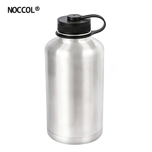 5385e2edb0 NOCCOL 64oz Eco Friendly Vacuum Beer Water Bottle Camping Flask Large  Stainless Steel Outdoor Sport Drinking