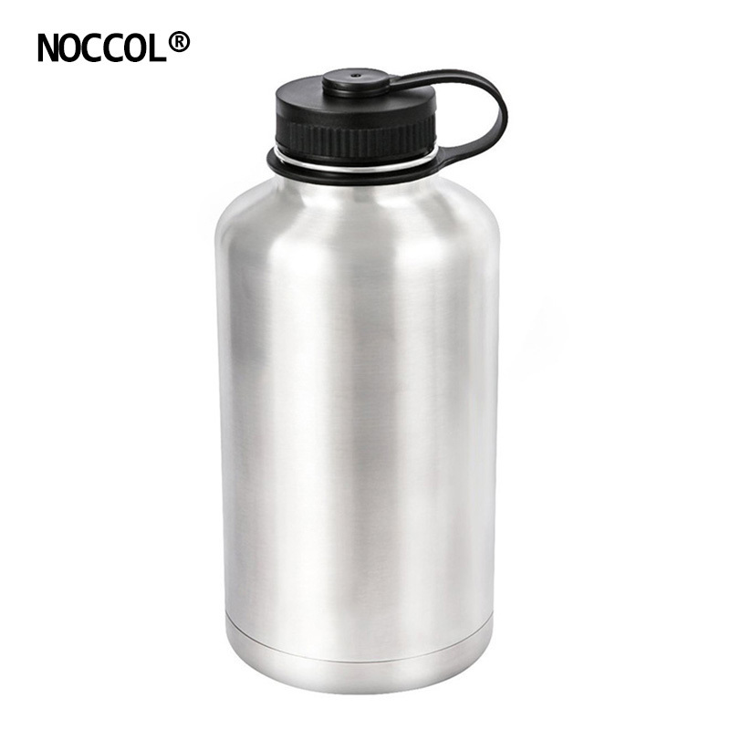 NOCCOL 64oz Eco Friendly Vacuum Beer Water Bottle Camping Flask Large Stainless Steel Outdoor Sport Drinking Kettle BPA Free