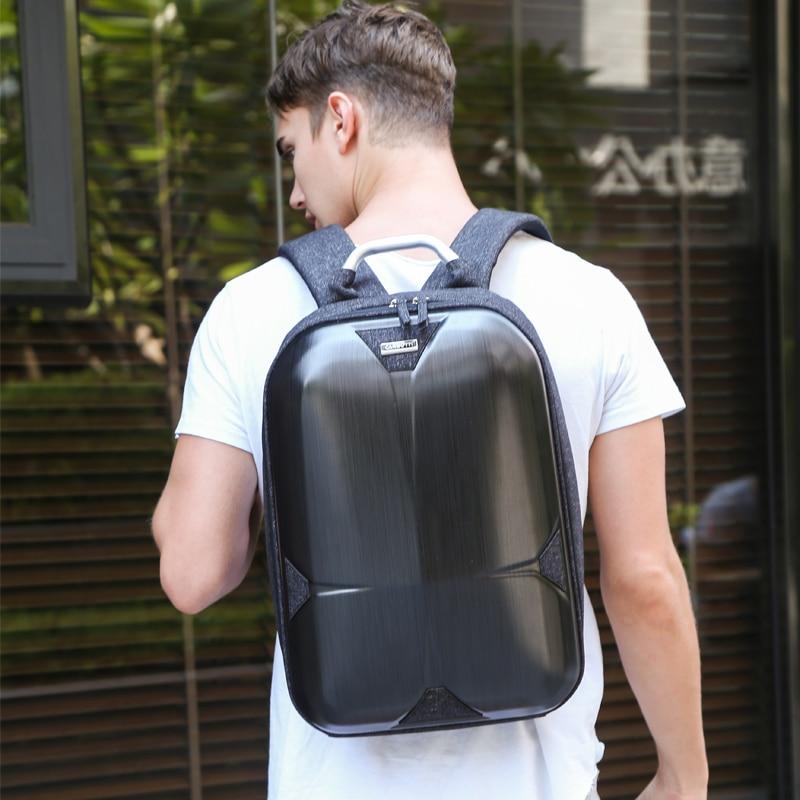 Mode sac à dos avec poignée hommes femme sacs à dos sac à dos pour ordinateur portable coquille dure étanche cartable mode ordinateur intercouche sac - 2