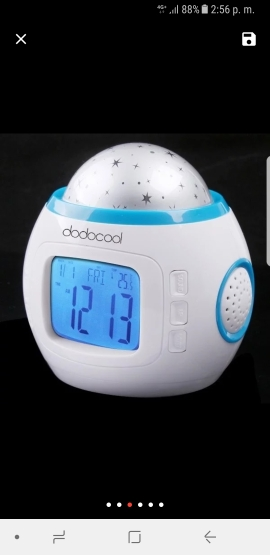 Creative Music Starry Sky Projection Alarm Clock Digital LED Alarm Clock Calendar Thermometer Projection Light Kids Toy