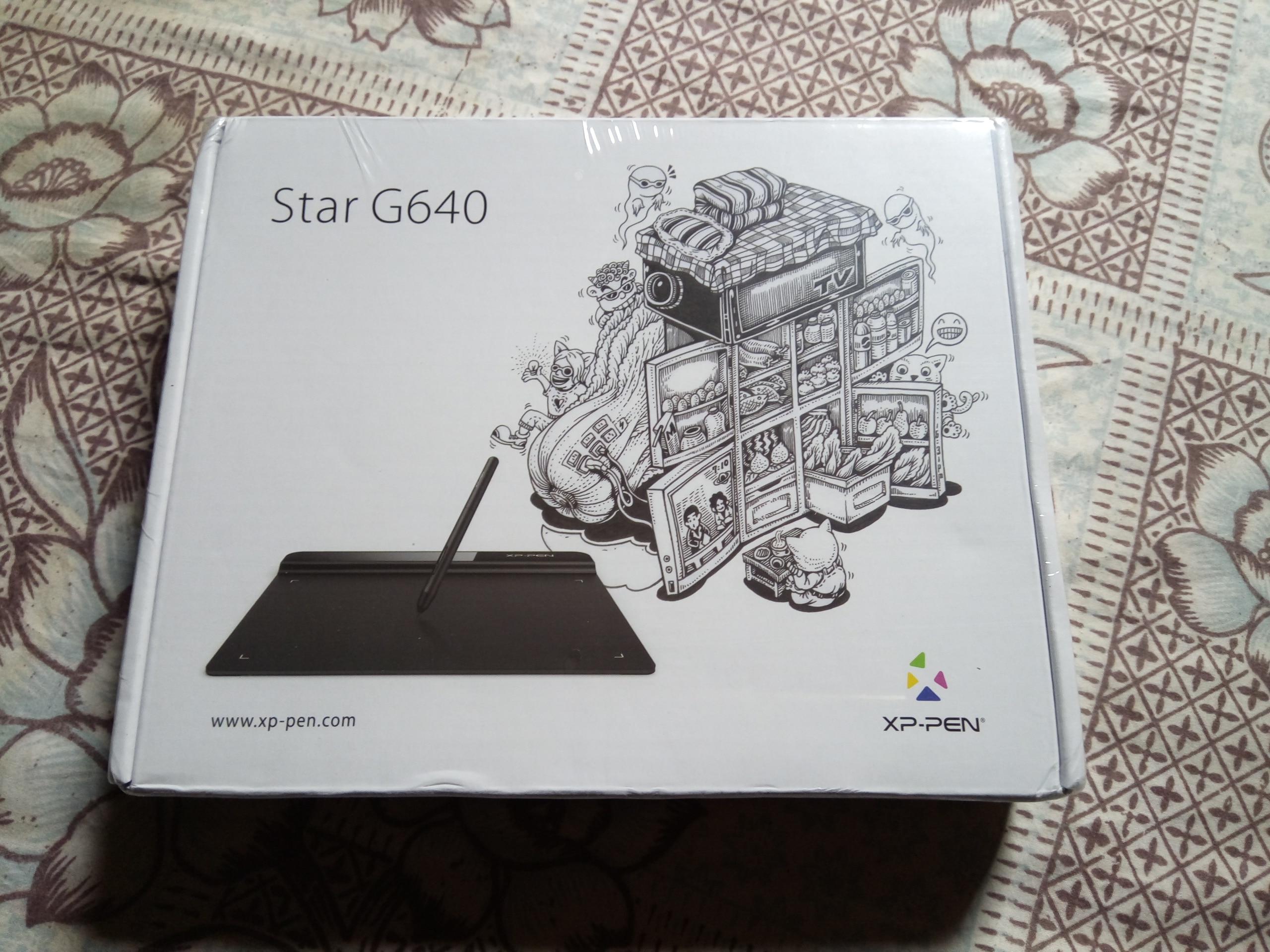XP Pen Bintang G640 Tablet Grafis Digital Tabletgrafik Monitor Tablet Untuk Osu Dan Menggambar 8192 Tingkat Tekanan 266RPS