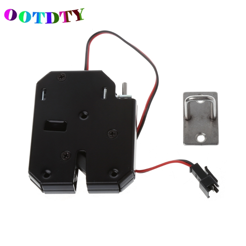 OOTDTY 150KG/330lb Electromagnetic Electric Control Cabinet Drawer Lockers For 12V DC Lock Latch Carbon Steel Black Door Access цена