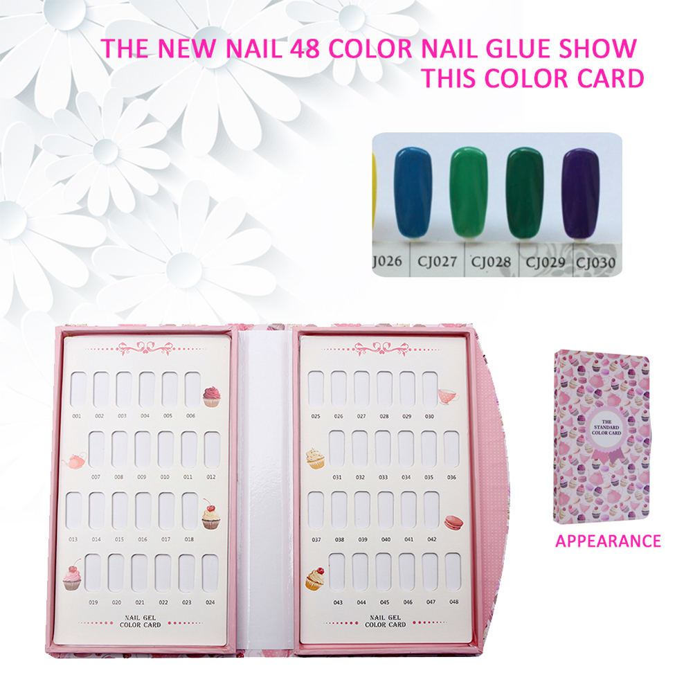48 Colors Nail Gel Polish Color Card Chart Blank Display Book ...