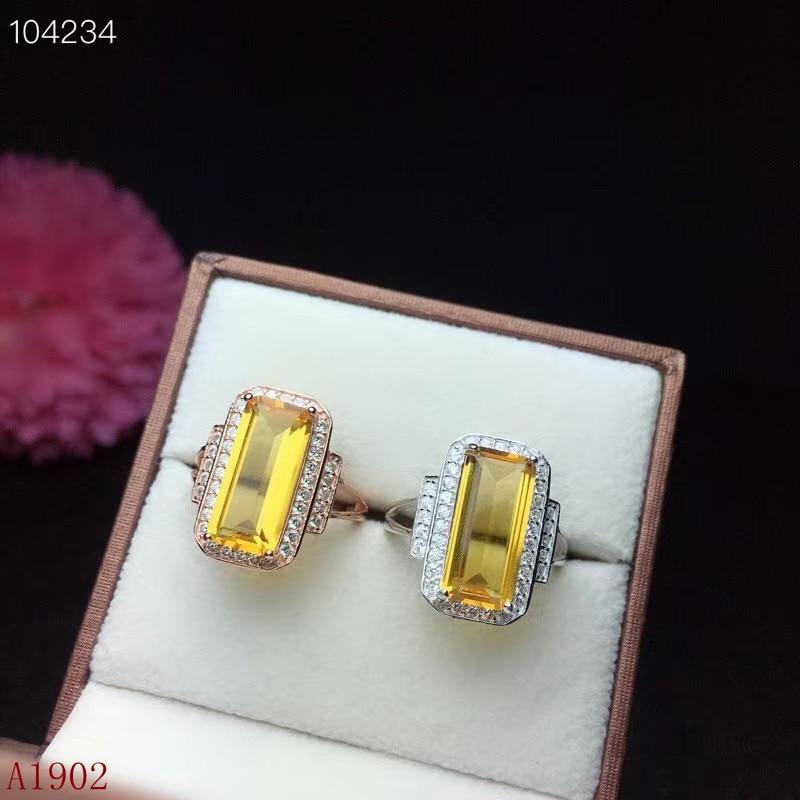 KJJEAXCMY fine jewelry 925 sterling silver inlaid citrine gemstone female ring luxuryKJJEAXCMY fine jewelry 925 sterling silver inlaid citrine gemstone female ring luxury