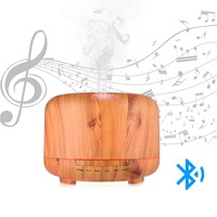 HXY Multi Function Bluetooth Speaker with Essential Oil Diffuser,Wireless Speaker in Aroma Mist Humidifier,Color Changing,Lamp