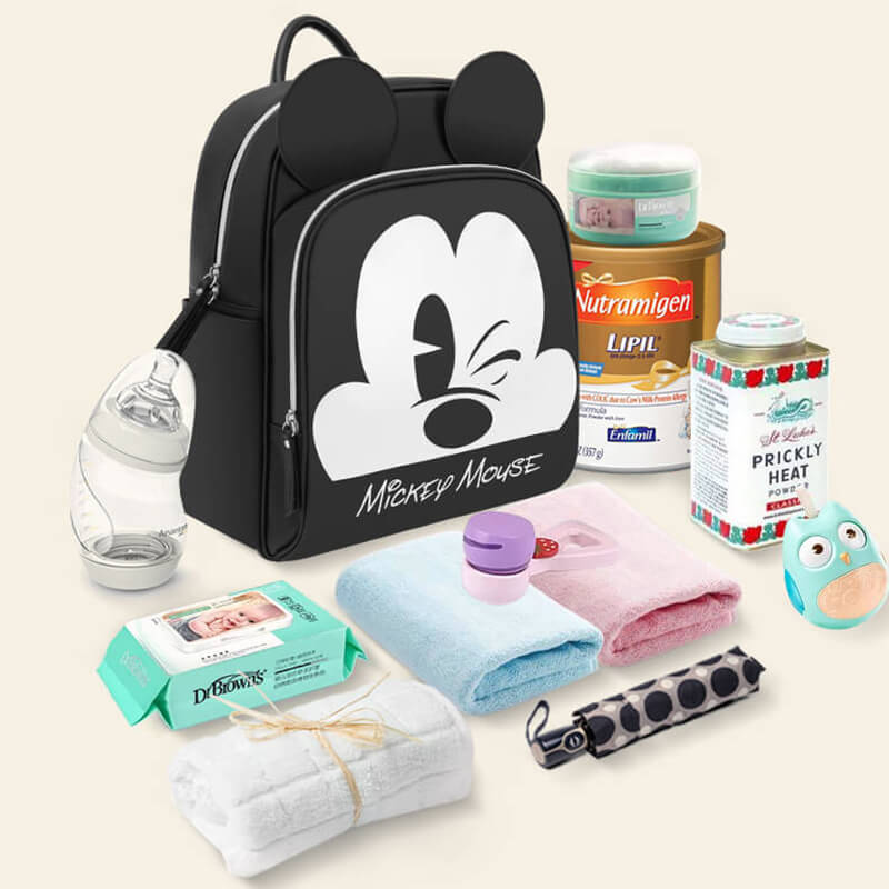 Disney Mickey Best Diaper Bag Baby Bag Backpack Mummy Maternity Care Large  Capacity Nappy Bag Striped 3D Ears USB Bottle Warmer-in Diaper Bags from  Mother ... 9b15b39e79dc