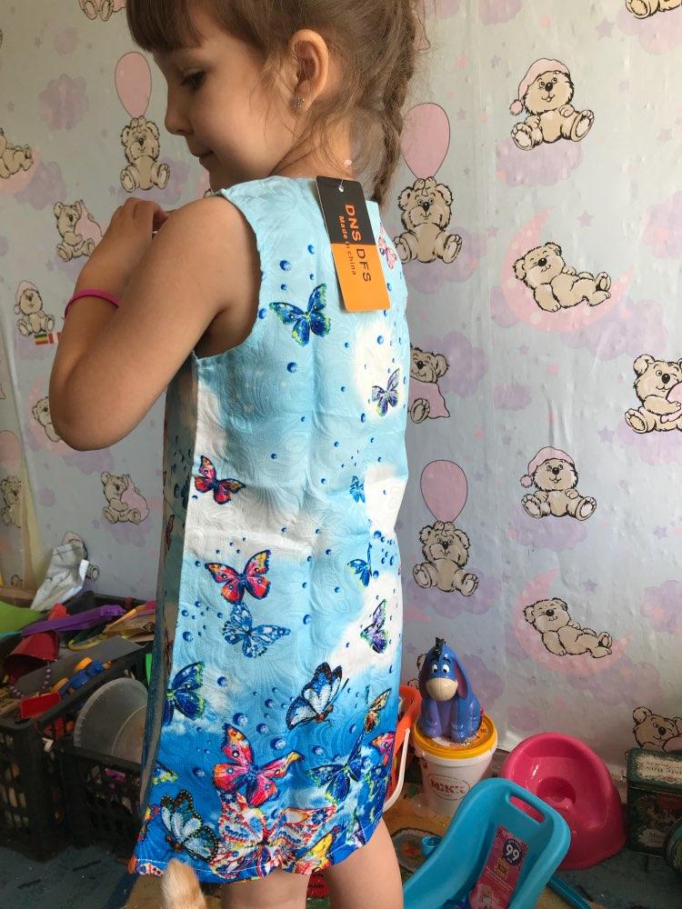 Summer Girls Dress Anna Elsa Dress Party Vestidos Teenagers Butterfly Print Princess Dress for Girls Elza Baby Girl Clothes