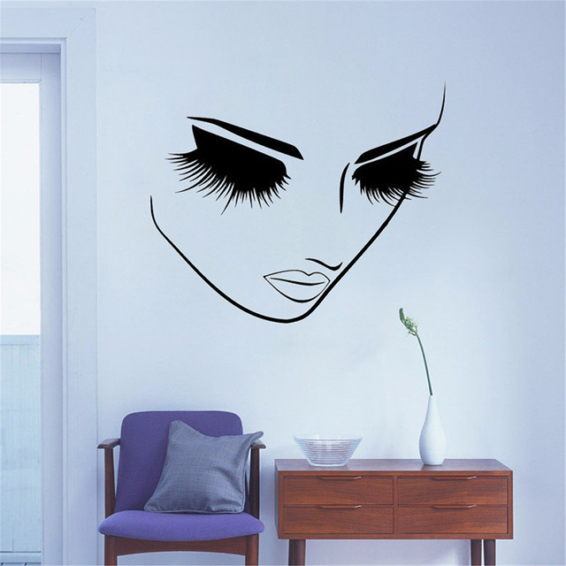 Aliexpresscom Buy PVC Removable Beauty Woman Face Wall Stickers - Vinyl stickers designaliexpresscombuy eyes new design vinyl wall stickers eye wall