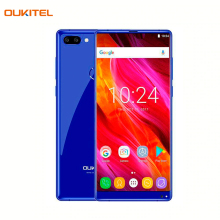 Смартфон OUKITEL Mix2Blue превосходный экран с разрешением 2160*1080, оперативная память 6Гб, встроенная память 64Гб, камера 21+2Мп, емкость аккумулятора 4080А/ч