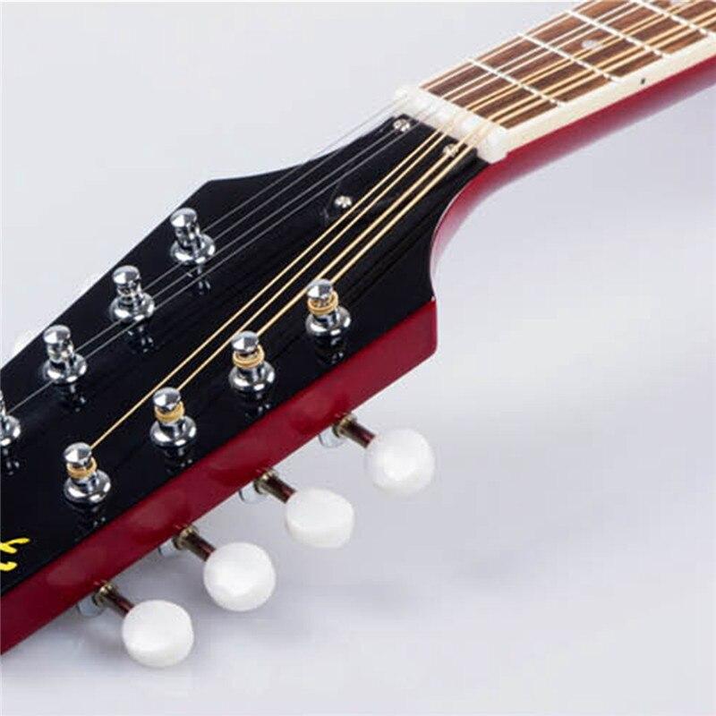 Zèbre coucher de soleil couleur palissandre 8 cordes F trou guitare basse électrique 20 Fret ukulélé pour Instruments à cordes musicaux cadeau amoureux - 5