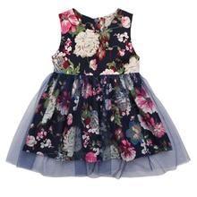 Kid New Fashion Casual Summer Cute Baby Child Round Neck Dress