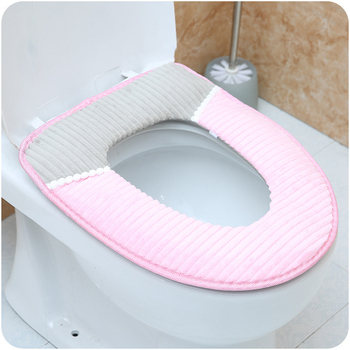 Creative seat flannel pads and pasting toilet seat cushion Bathroom household