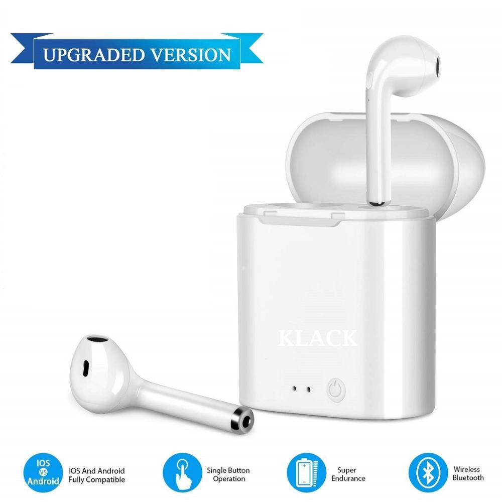 Headphones Bluetooth I7S Original Chip for Music Headphones quality Inalambricos with Load from Spain's cash box