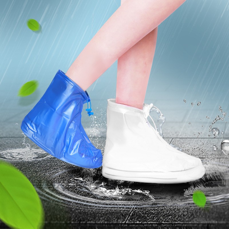 High Quality Rain Shoes Waterproof Rain Cover Reusable Covers Thicker Non slip Rubber Rain Boots Men Women Shoes Accessories in Rain Covers from Home Garden
