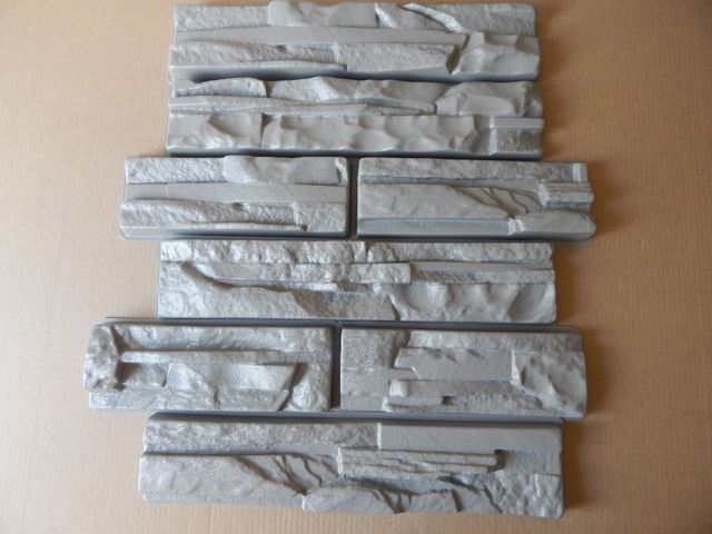 Plastic Molds for Concrete NEW SLATE #4! Plaster Garden House Wall Stone Tiles Stone Mold Cement Bricks Maker Mould