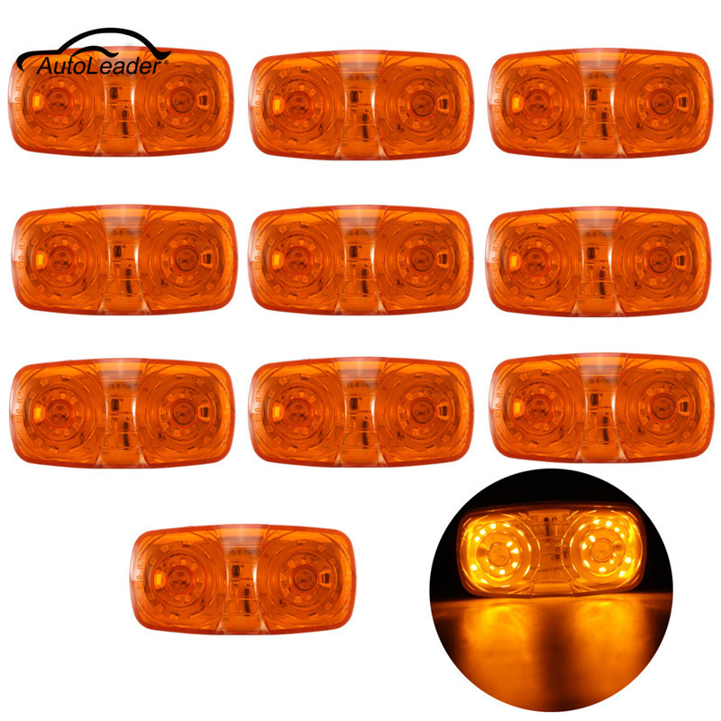 10x LED Trailer Truck Side Marker Light Clearance Indicator Tiger Eye Lamp Tail Light Amber plug in electricity style corridor fire emergency light led safety export indicator sign vacuation passageway marker light