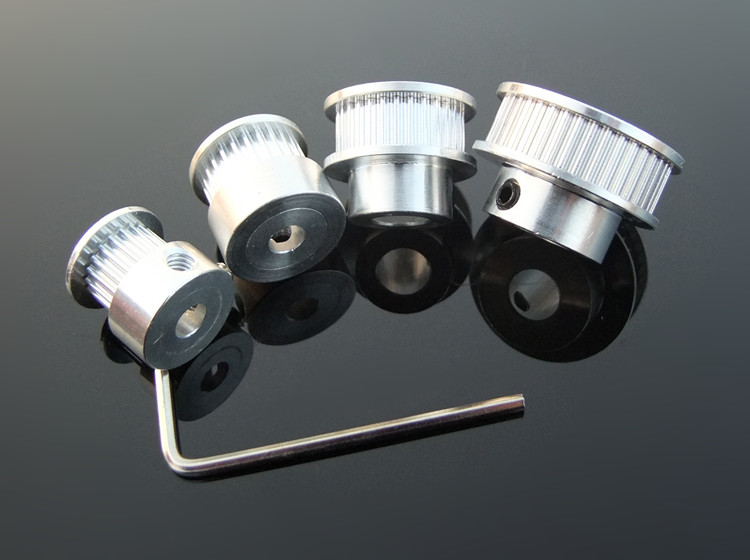 2Pcs 16T/20T/60T/80T Tooth 2GT Timing Belt <font><b>Pulley</b></font> For DIY Mode and RC Printer image