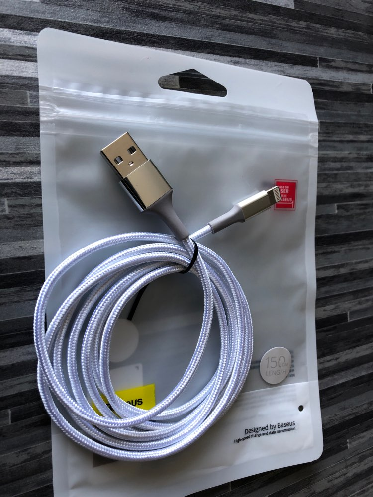 Baseus LED lighting Charger Cable For iPhone X 8 7 USB Cable For iPhone iPad Fast Charging Charger Cable Mobile Phone Data Cable
