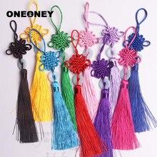 Oneoney 1 шт., китайский узел, кисточка, бахрома, китайское искусство и ремесла, пластиковые нефритовые кисточки, украшение, кулон, подарок, Декор для дома